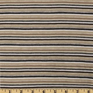 Designer Rayon Jersey Knit Stripes Earth   Discount Designer Fabric