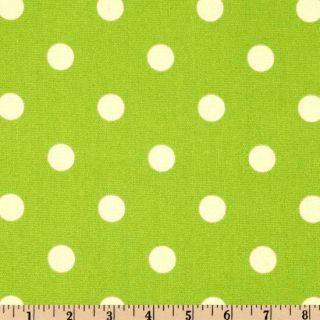 Premier Prints Polka Dot Lime   Discount Designer Fabric   Fabric