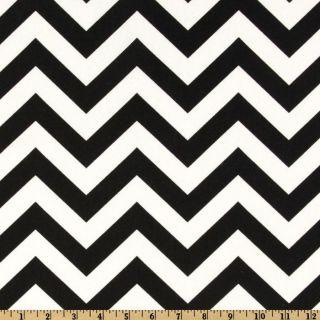 Premier Prints ZigZag Black/White   Discount Designer Fabric   Fabric