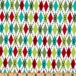 Michael Miller Nordic Holiday Socks Santa   Discount Designer Fabric