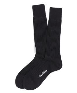Brooks Brothers Brooks Brothers Merino Wool Ribbed Crew Socks