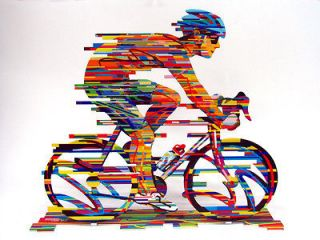David Gerstein Modern Art CHAMPION Bicycle Racer Metal Print Sculpture