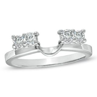 CT. T.W. Diamond Solitaire Enhancer in 14K White Gold   Clearance