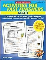 ACTIVITIES FAST FINISHERS Math Gr 2 3 Scholastic NEW