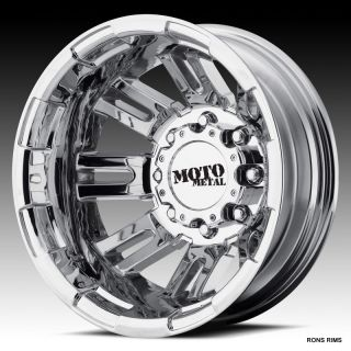 MOTO METAL CHROME 963 DUALLY 17 X 6 CHEVY GMC 2011/12/13 WHEELS