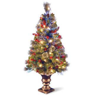 Fiber Optic Spruce Christmas Tree w/ Lights at Brookstone—Buy Now
