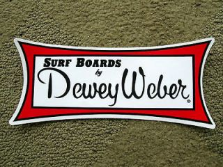 Large Dewey Weber surfboards surfing sticker vintage style decal