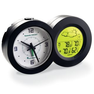 clock l l bean weather station hygrometer thermometer moon phase dial. Black Bedroom Furniture Sets. Home Design Ideas