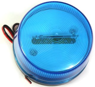 Emergency Security Alarm LED Strobe Flashing Light Blue   Tmart