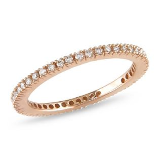 CT. T.W. Diamond Eternity Anniversary Band in 10K Rose Gold   View