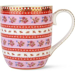 Small pink ribbon rose mug   PIP STUDIO  selfridges