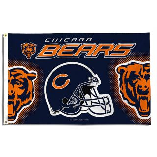Chicago Bears Collectibles Rico Chicago Bears NFL Banner Flag