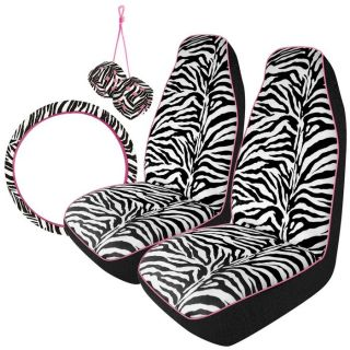 Piece Car Interior Makeover Kit with 2 High Back Car Seat Covers