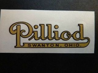 PILLIOD MACHINIST TOOL CHEST vintage Restoration label (decal)