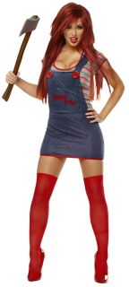 Overalls dress, top, and thigh highs. Weapon (BE53) sold separately