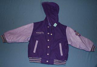 Girls Joe Boxer Sz 4 / 5 Reversible Hooded Varsity Jacket Rain coat