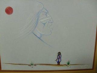 Native American Art Watercolor painting Joe Tiger