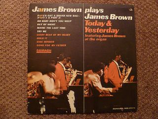 JAMES BROWN PLAYS JAMES BROWN TODAY AND YESTERDAY  LP RECORD   1965