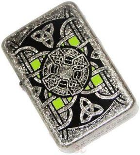 Celtic Knot Cross Lighter Street Chrome Brushed Metal Irish Uses