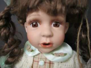 Geppeddo Adorable 16 Porcelain Doll Fairy Tale Series Brown Eyes