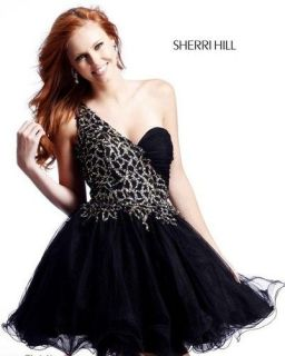 Hill Short Cocktail Dress for Holiday / Homecoming 7404 Black/Gold
