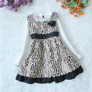 BEAUTIFUL LEOPARD PRINT DRESS AND TOP BABY GIRL LEOPARD PRINT DRESS