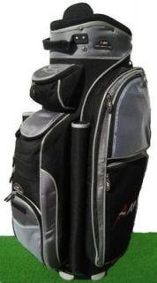 A08 14way full length divider golf cart bag black Grey
