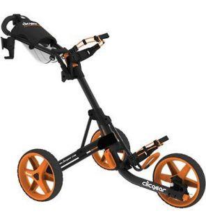 New Clicgear 3 Wheel Golf Cart Model 3.0  Charcoal Orange
