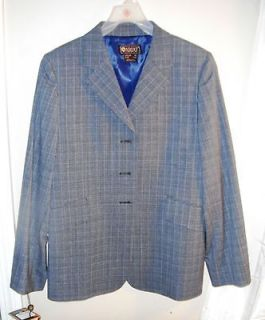 Trophy Coat Ladies Show Coat Gray Glen Plaid R16 NWT Hunt Coat Hunter