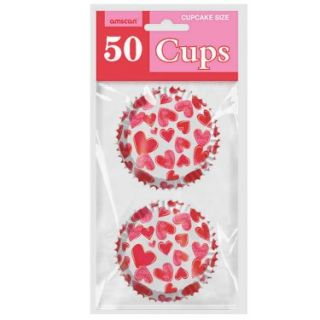 Halloween Costumes Valentines Hearts   Cupcake Cups (50 count)