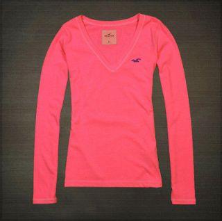 Abercrombie Fitc Womens Salt Creek Tee V Neck Long Sleeve T Shirt