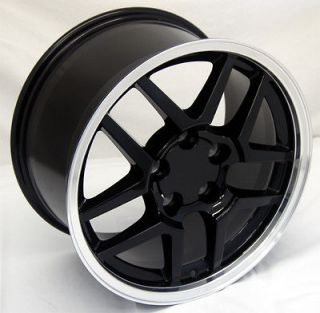 Black Corvette Z06 Wheels 17x9.5 ZO6 Camaro Rims 17 inch, C4 C5 17