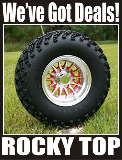 NEW 10x7 Red Medusa Golf Cart Wheels and All Terrain Tires