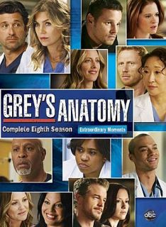 Greys Anatomy The Complete Eighth Season DVD, 2012, 6 Disc Set