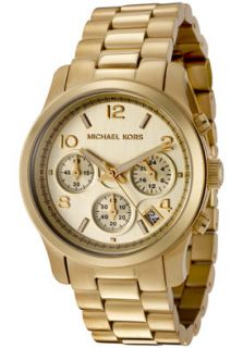 Michael Kors MK5055 Watches,Womens Chronograph Gold Tone Stainless