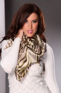 Light Green Stripe Printed Patterned Scarf @ Amiclubwear scarf Online