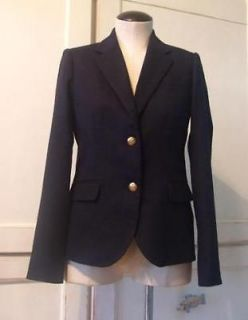 188 J CREW Wool Schoolboy Jacket 2 T Blazer Navy fall