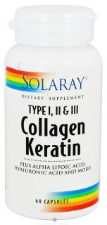 Solaray   Collagen Keratin Type I, II, & III   60 Capsules Plus Alpha