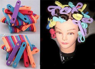 14 X Bendy Foam Hair Rollers Twist Benders Curlers New