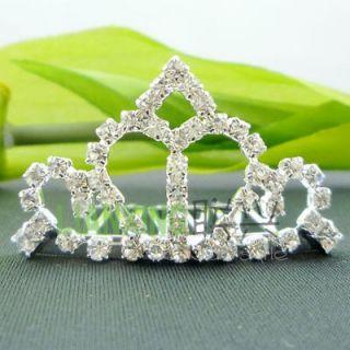 Children Girls Women Wedding Bridal Princess Crystal Tiara Crown Head