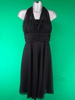 SENSE 40s/50s VINTAGE MARILYN MONROE STYLE SEQUINED HALTERNECK DRESS
