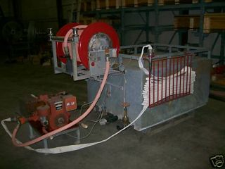 ton fire truck tank, pump, nozzles,hose and hose reel