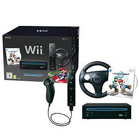 Nintendo Wii Kart Bundle, schwarz + Wii Wheel + Mario Kart im Karstadt