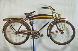 Vintage 1941 Montgomery Wards Hawthorne balloon tire bicycle bike blue