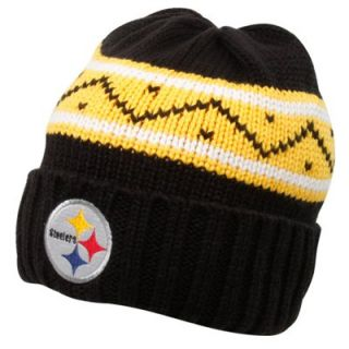 Reebok Pittsburgh Steelers Black D Line Cuffed Knit Beanie