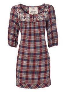 Home Womens Blouses & Shirts Falmer Check Embellished Smock