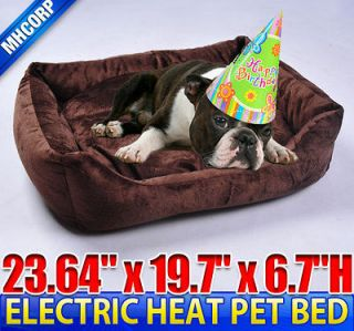 Dog Cat Pet Electric Heat Bed Mat Pad Sleeping Warmer Indoor Heated