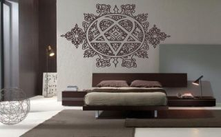 Large Detailed Him Heartagram heavy metal vinyl wall art decal