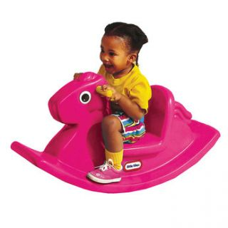 Ideal for toddlers, this pink rocking horse is lots of fun! This