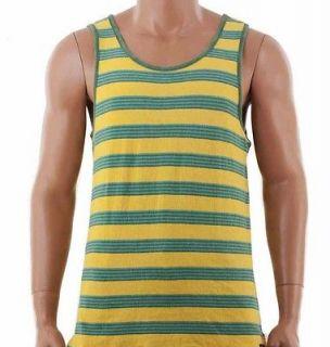 Quiksilver Mens Heller Tank Top Sleeveless T shirt Yelllow 108238 XL